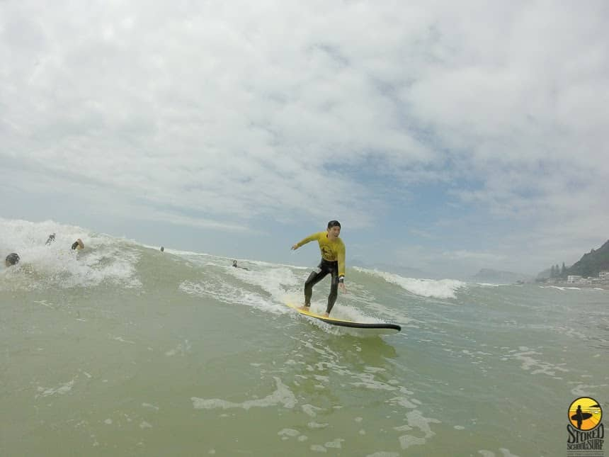 Will surfling like a pro with Stoked in Muizenberg