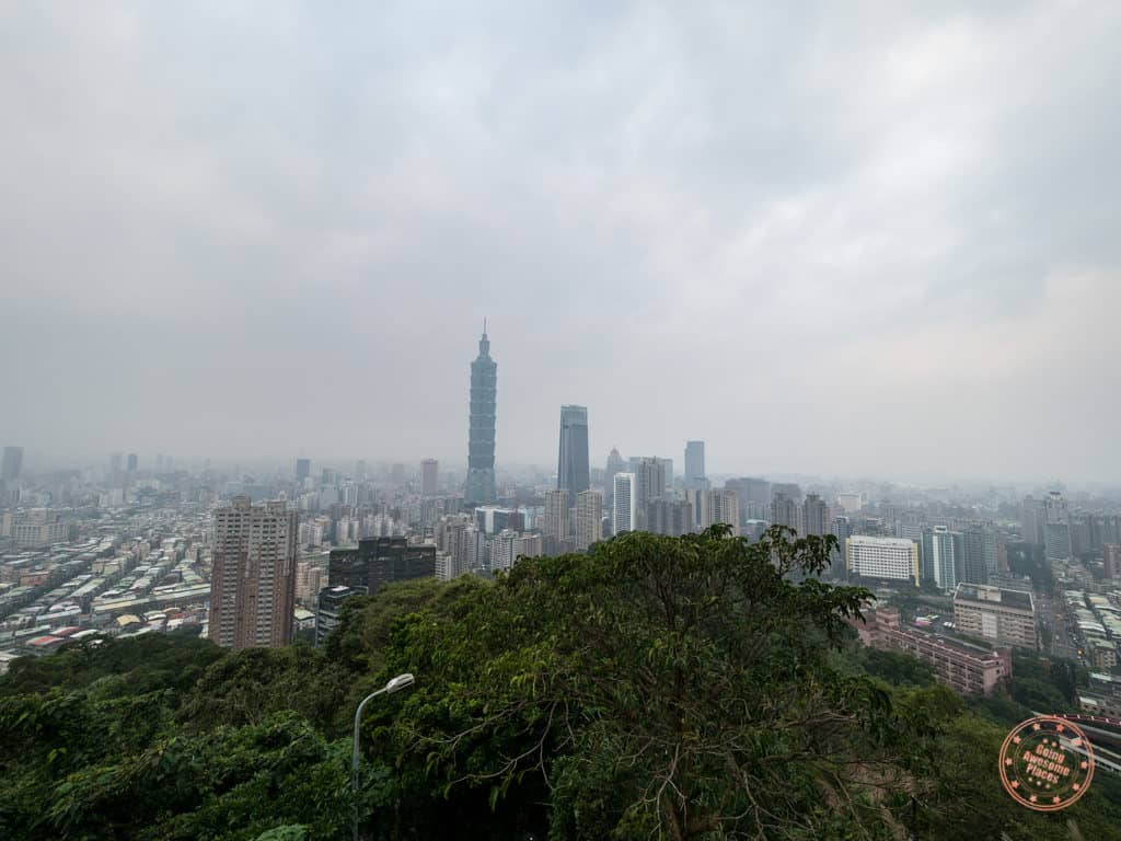 Views of Taipei 101 from Xiangshan Elephant MOuntain