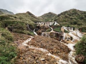 Golden Waterfalls Near Jinguashi