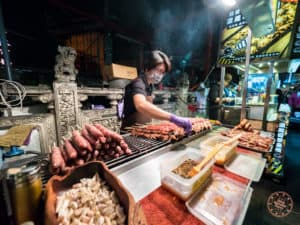All Kinds of Sausage at Shilin Night Market