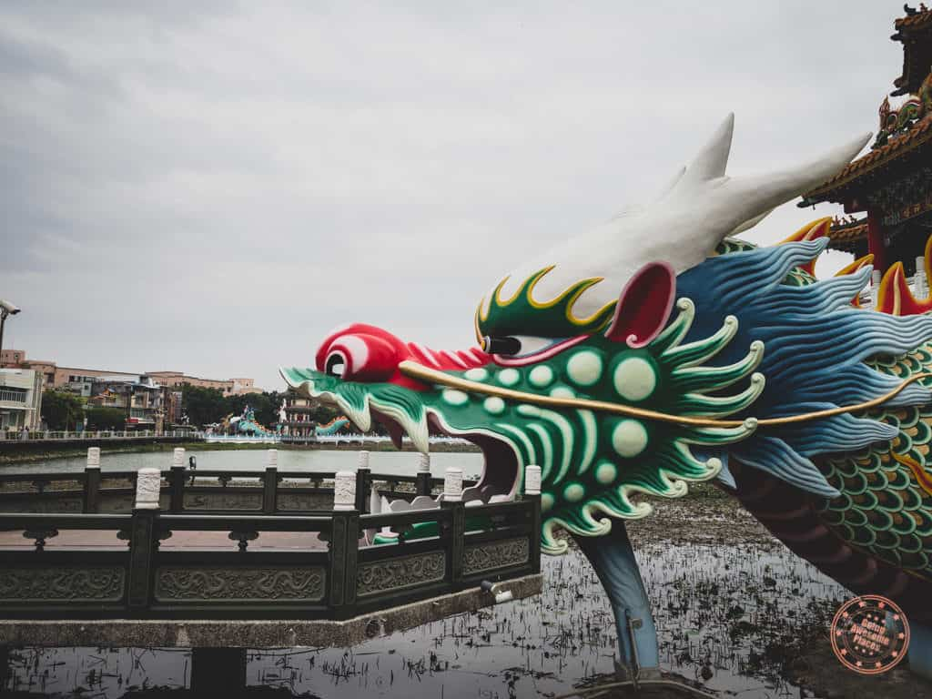 Dragon Entrance Of the Twin Pagodas in Kaohsiung