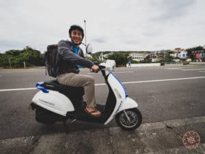 Riding A Scooter in Kenting