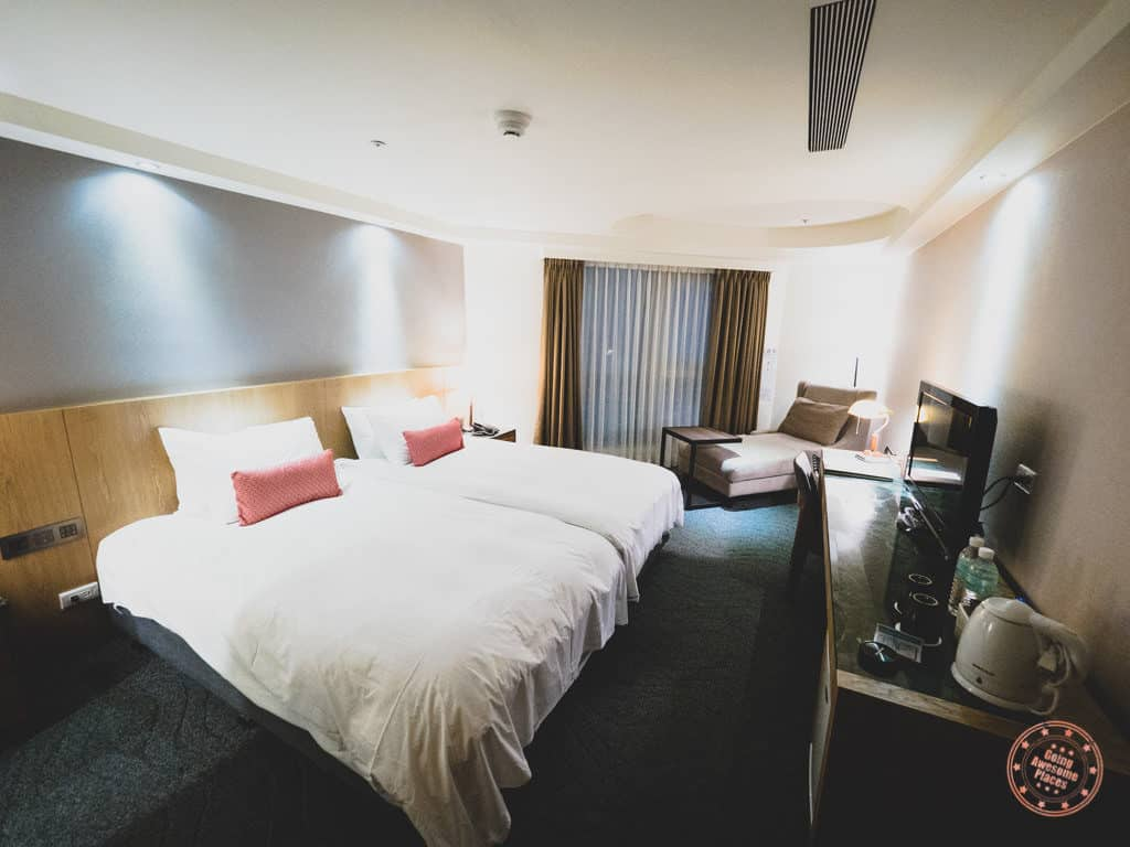 Inside A Azure Hotel Room in Hualien