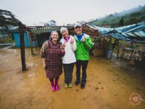 Photo With Ah-Ma at Dadong's B&B in Taroko