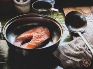 Fresh Salmon For Dinner In Tribal B&B In Taroko