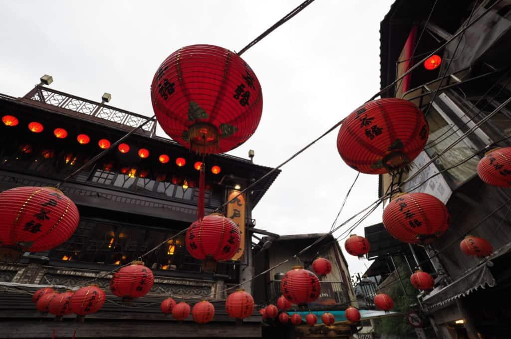 Juifen Old Street hanging red lanterns