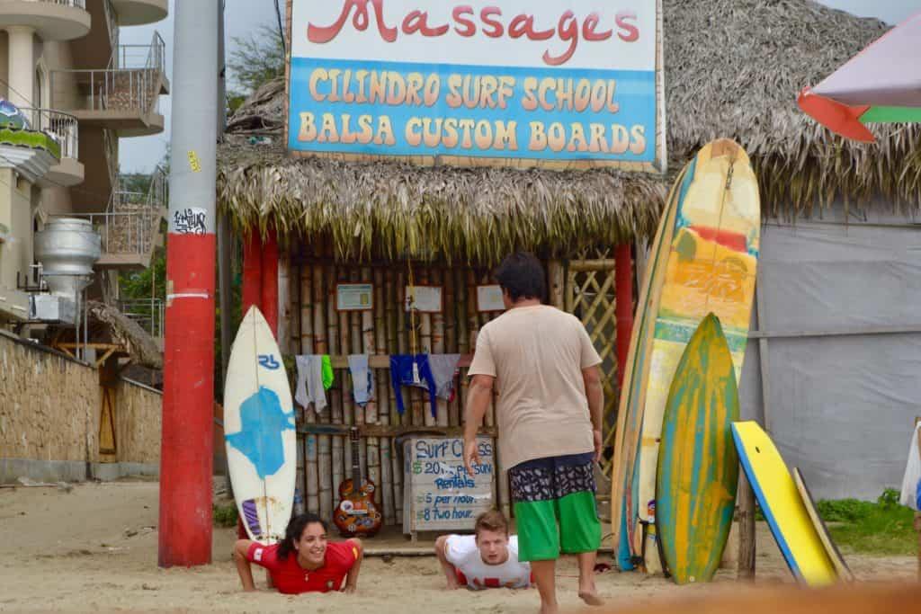 Surfing in Montañita