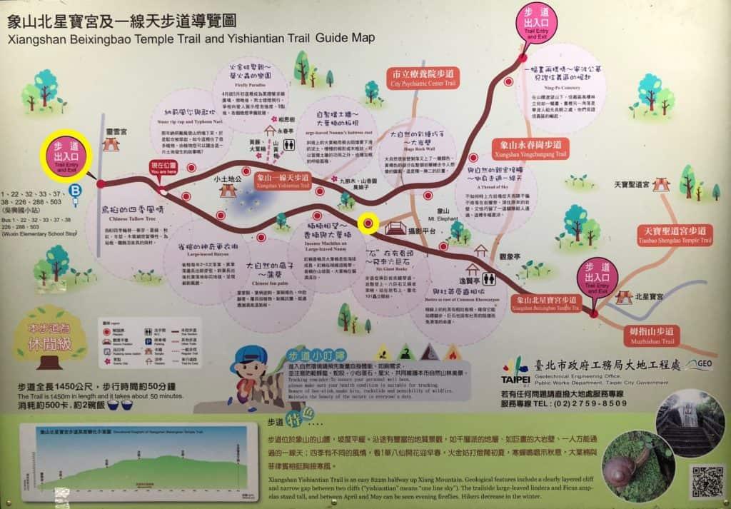 Detailed Xiangshan Elephant Mountain Trail Map