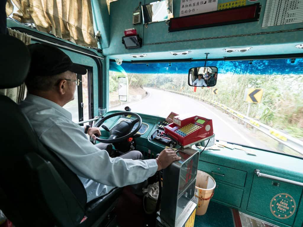 Taiwan Tourist Shuttle Bus Driver to Alishan
