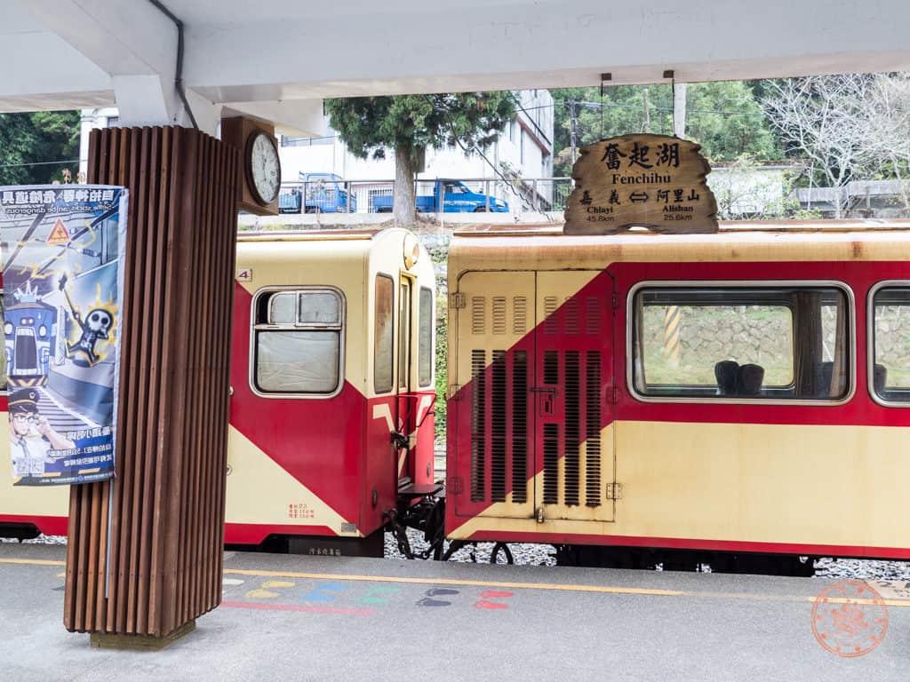 Alishan Forest Railway Train in Fenqihu