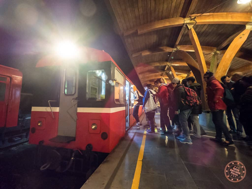 Getting on the Alishan Train Up to Chusan for sunrise