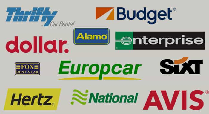 Car rental companies and their discount codes