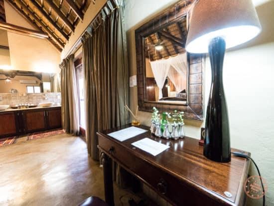 office desk in honeymoon suite at elephant plains