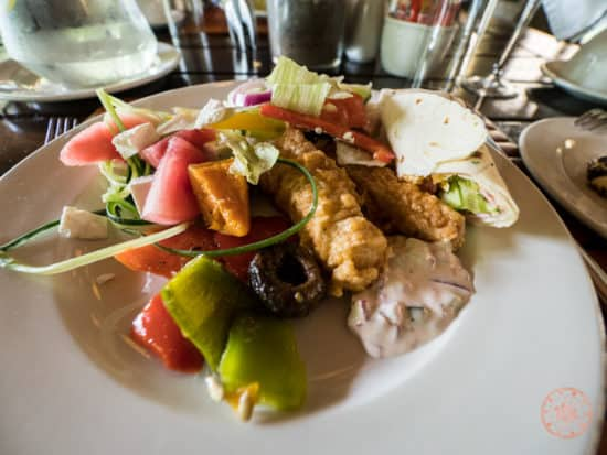 Sample buffet dish for lunch at Elephant Plains