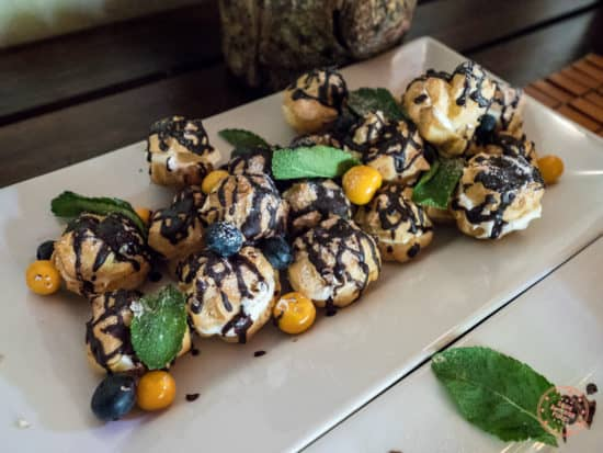 dessert for lunch at Elephant Plains
