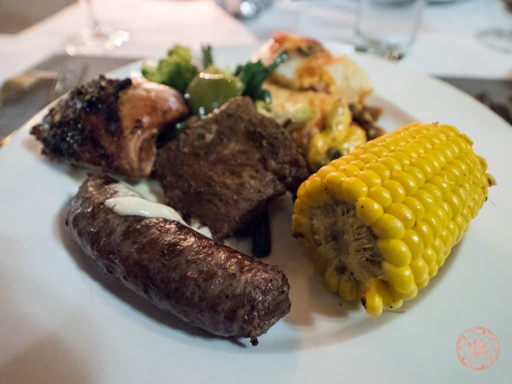 hearty dinner dish at Elephant Plains