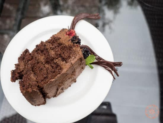 chocolate cake for lunch at Elephant Plains
