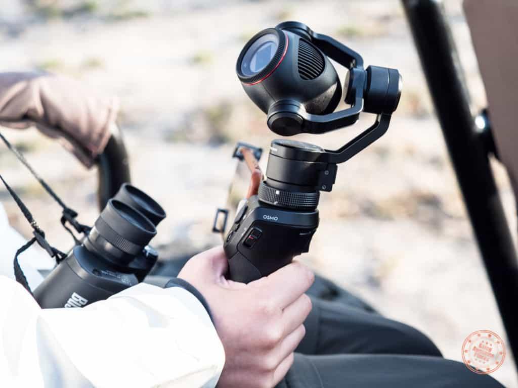 chantelle operating the video camera dji osmo