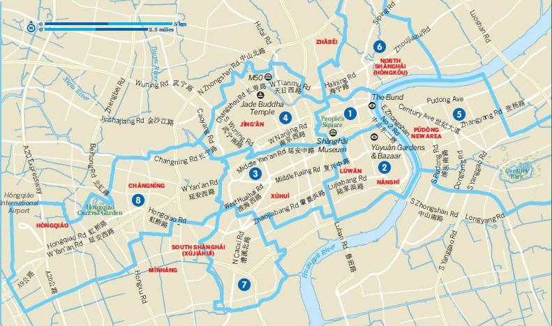 shanghai neighbourhood map
