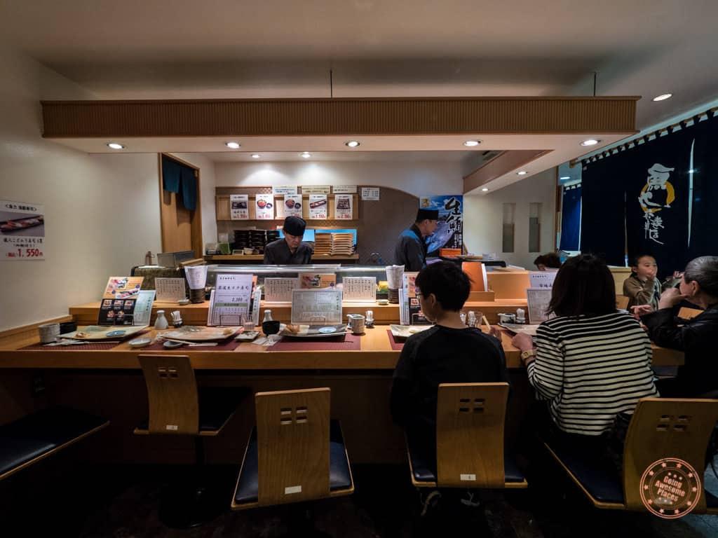Inside Uoriki Kaisen Sushi