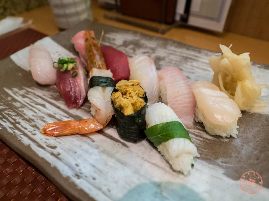 seasonal nigiri set
