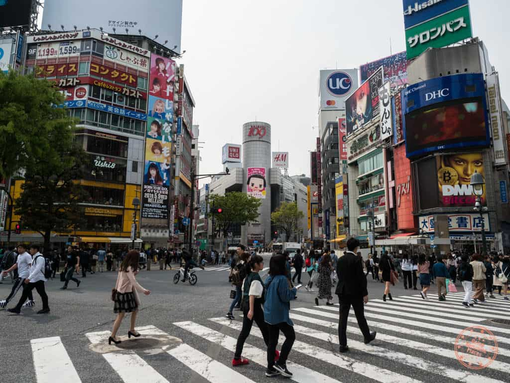 shibuya crossing street scramble