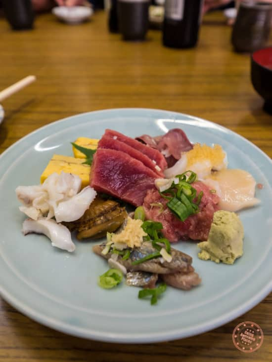 1.5x portion sashimi dish motodane