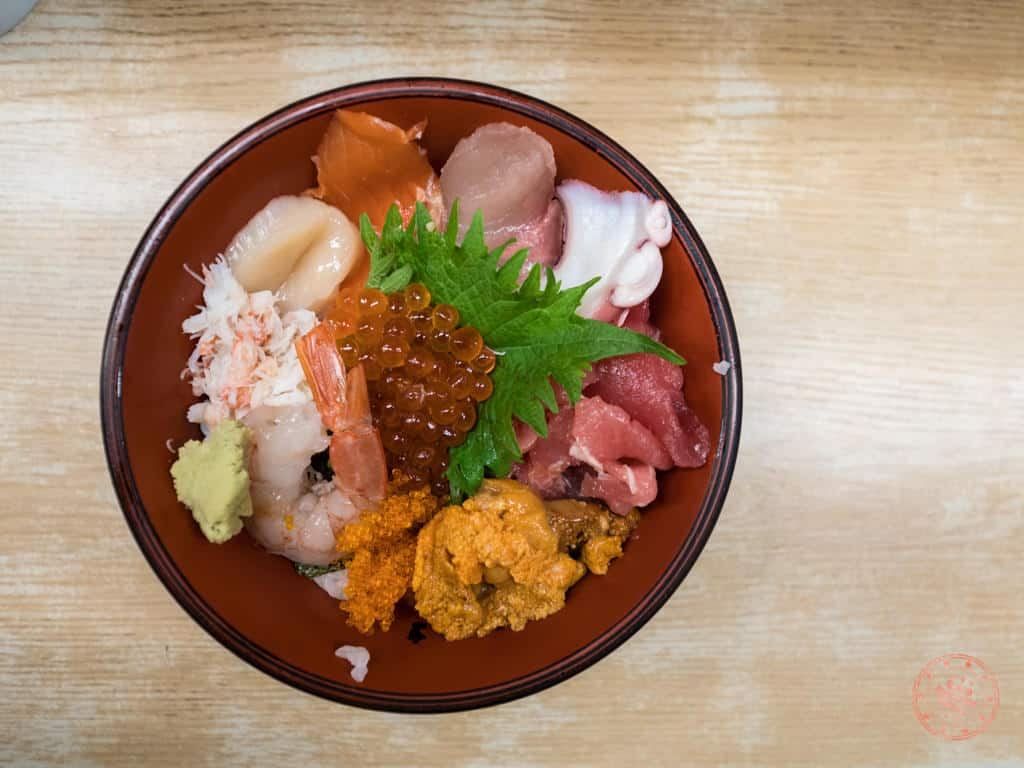 mixed sashimi rice bowl
