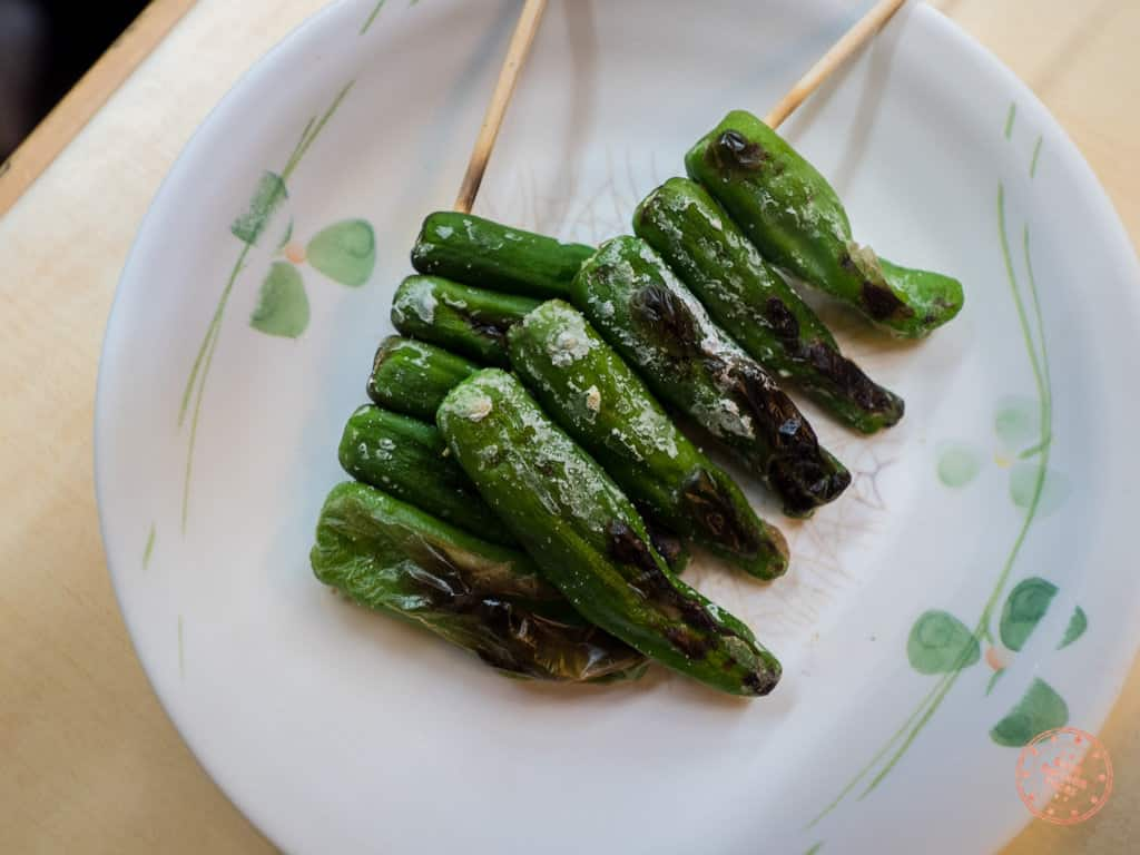 green peppers yakitori
