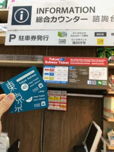 purchasing tokyo metro and toei 48 hour pass at BIC Camera