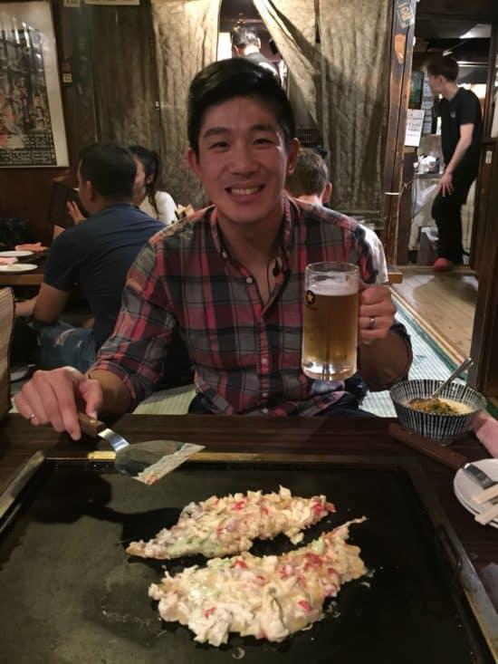 eating at sometaro okonomyaki