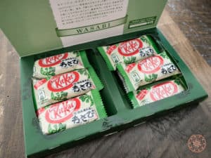 wasabi flavoured kit kat from japan in box
