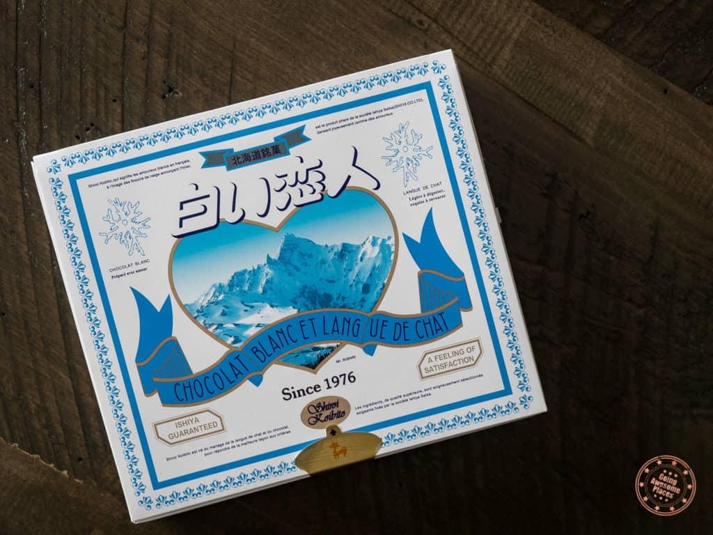 chocolat blanc hokkaido cookies from japan