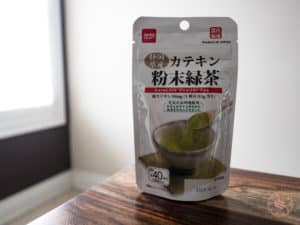 instant matcha green tea drink from daiso