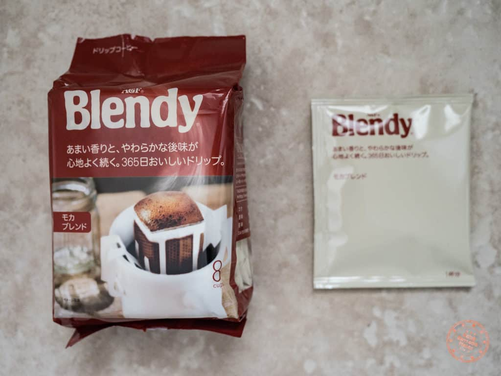 unique food souvenir from japan - blendy personal sized drip coffee