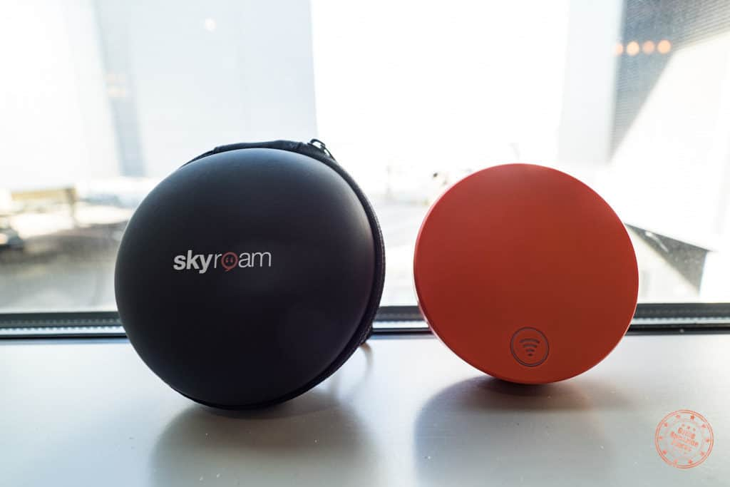 skyroam solis unlimited wifi hotspot device at the airport