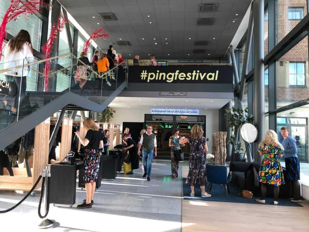 clarion helsinki hosting ping festival front foyer registration