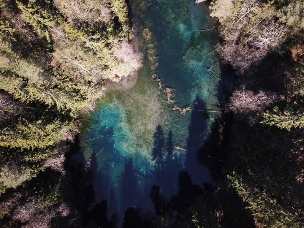 crystal clear pond named kiikunlähde in lahti