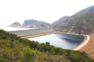 Water Dam Wall of High Island Reservoir