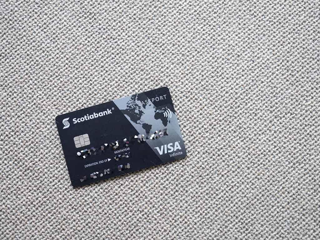 scotiabank passport visa infinite canadian travel credit card