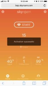 skyroam solis activation successful message≈