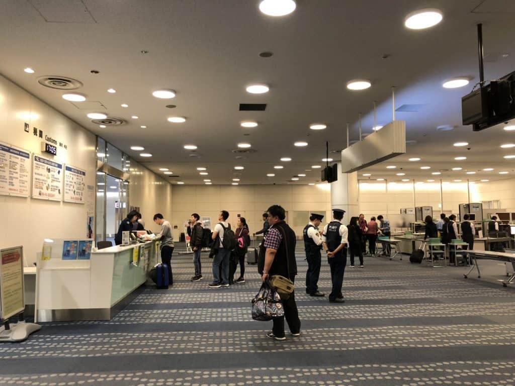 duty free desk at haneda airport in tokyo