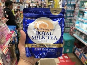 royal milk tea instant drink makes a great snack in japan from don quijote