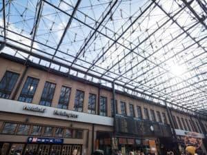 helsinki central station in the sun