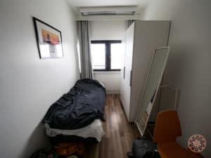inside a single room at forenom hostel helsinki merihaka