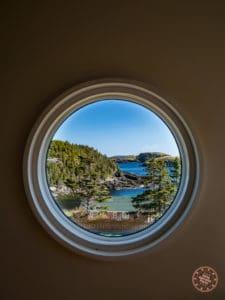 circle viewport from irish loop oceanside chalet
