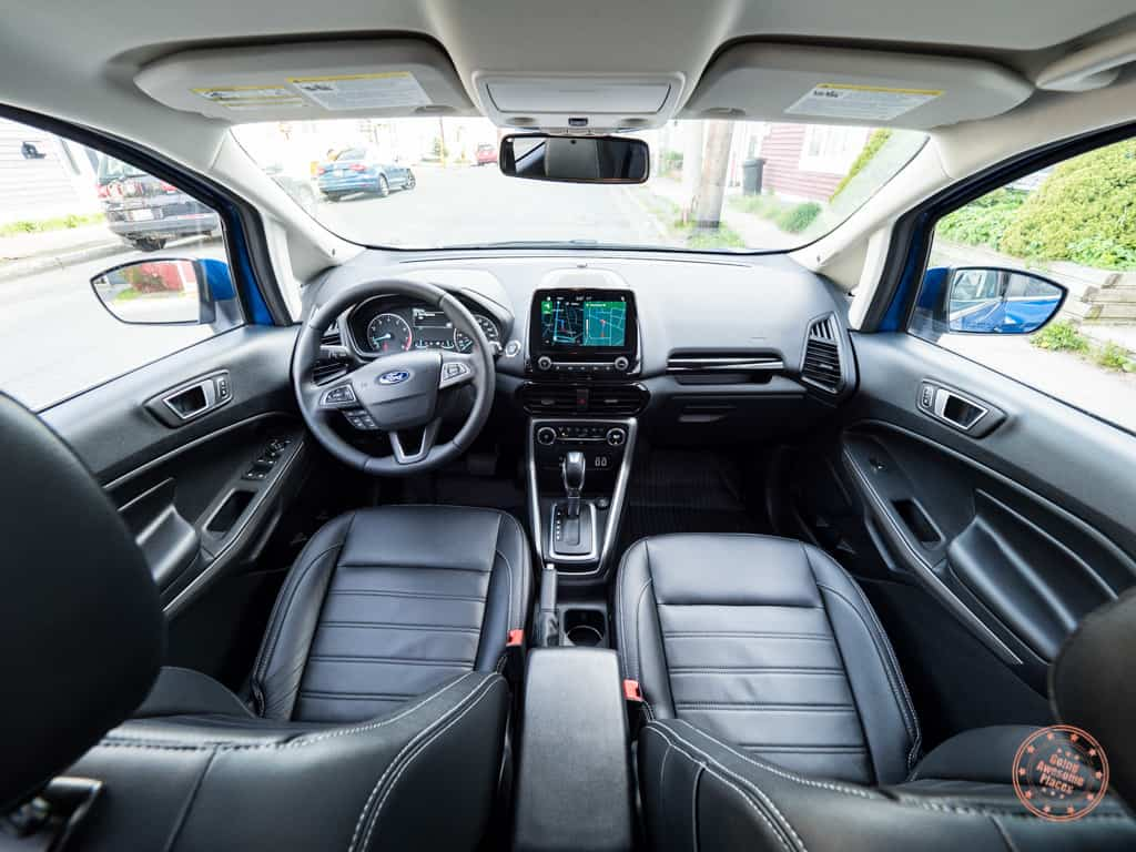 front interior of the ford ecosport
