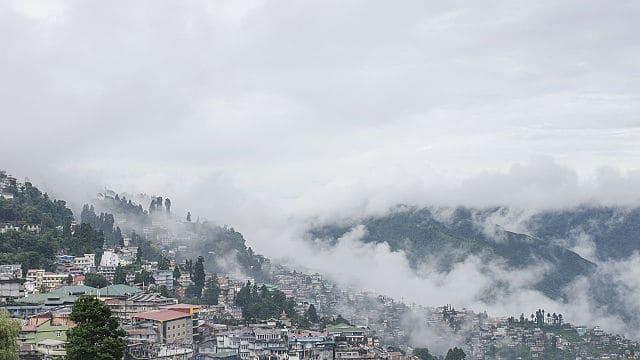 darjeeling covered in cloud