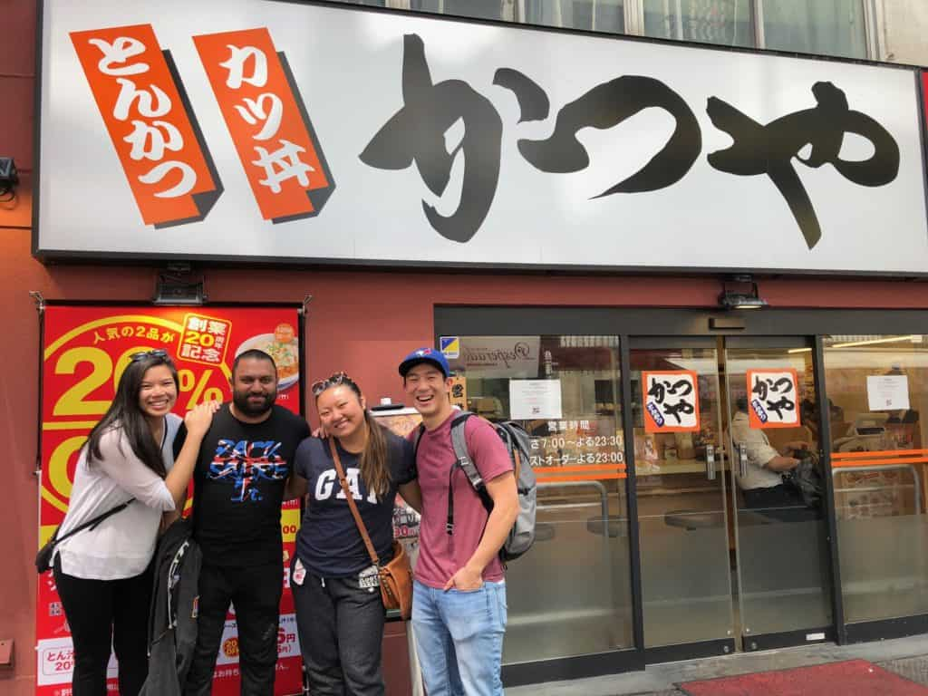 meeting with friends in tokyo