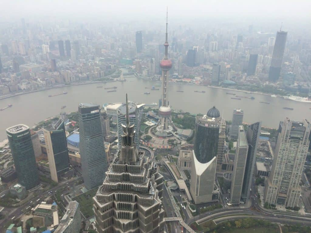 shanghai pudong view from swfc
